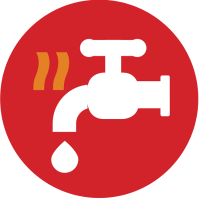 Adelaide Hills Air Electrical, Hot Water Icon